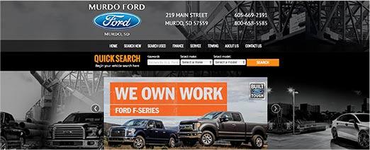 Murdo Ford homepage screenshot